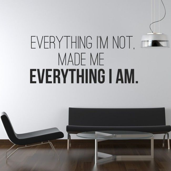 Kanye West Wall Sticker Everything Im Not Wall Art Bowie Senior