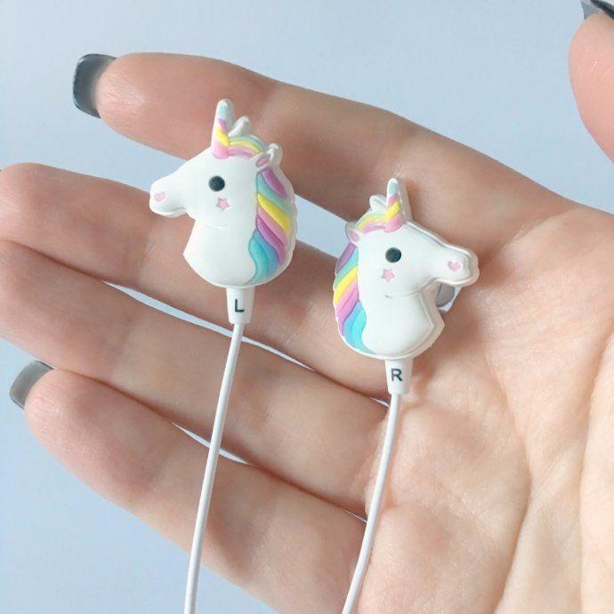 902bac7d21c Unicorn Earbud Headphones in 2019 | Fun Finds | Headphones, Cute ...