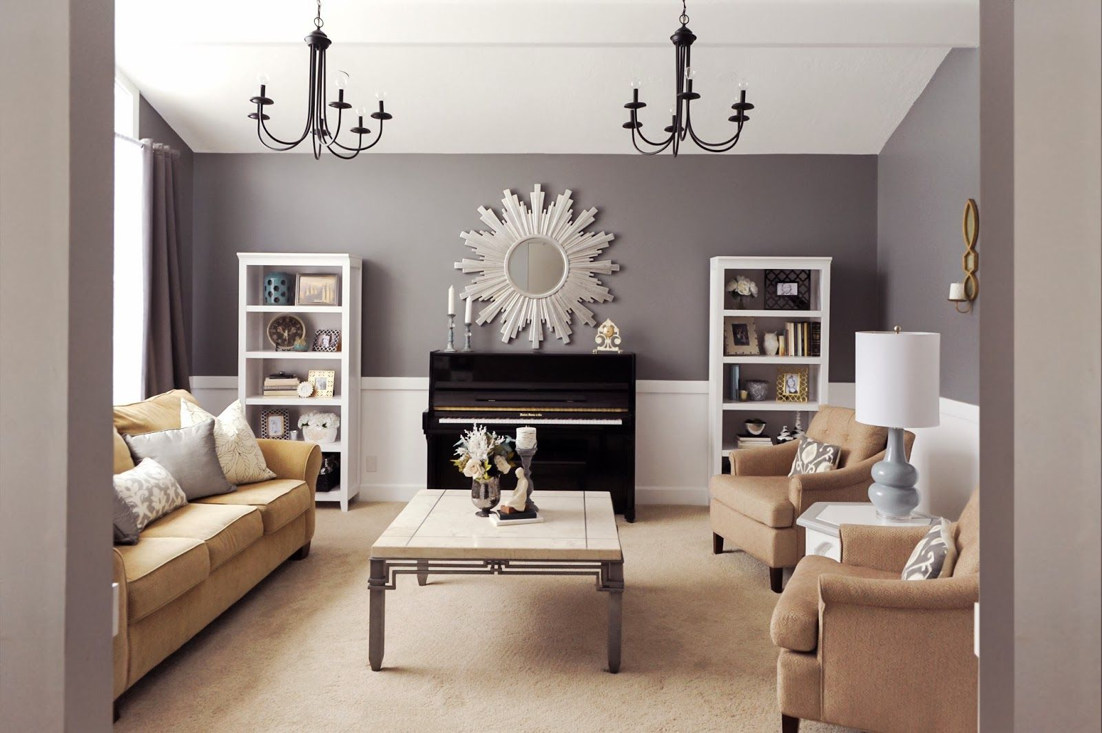Client Reveal Transitional Chic Formal Living Room Piano Living