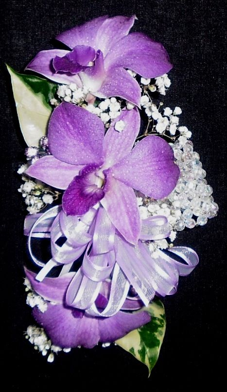 Purple Orchid Wrist Corsage
