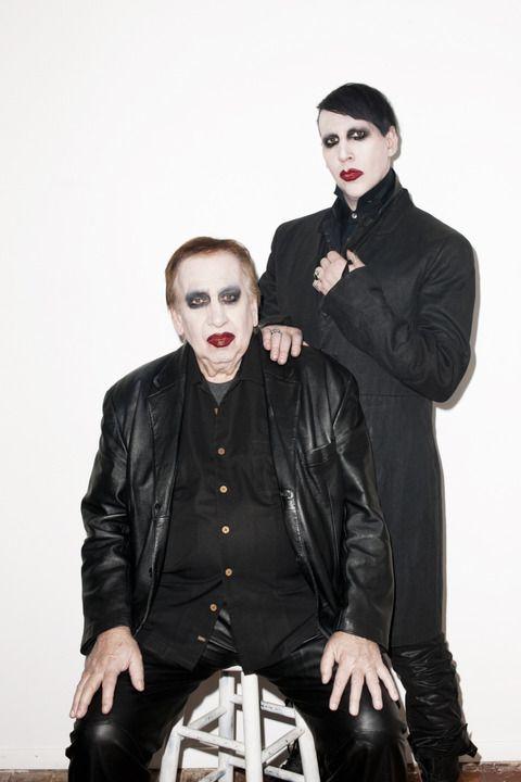 マリリン マンソンが撮影中に同じメイクの父親が現れ赤面 マンソン可愛い過ぎわろた Interplay Marilyn Manson Manson Marylin Manson