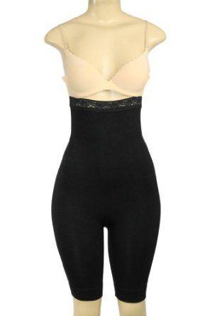 7497bc431a High Waist Long Leg Body Shaper Black Small Medium by Magic Curves Donna Di  Capri.  25.00