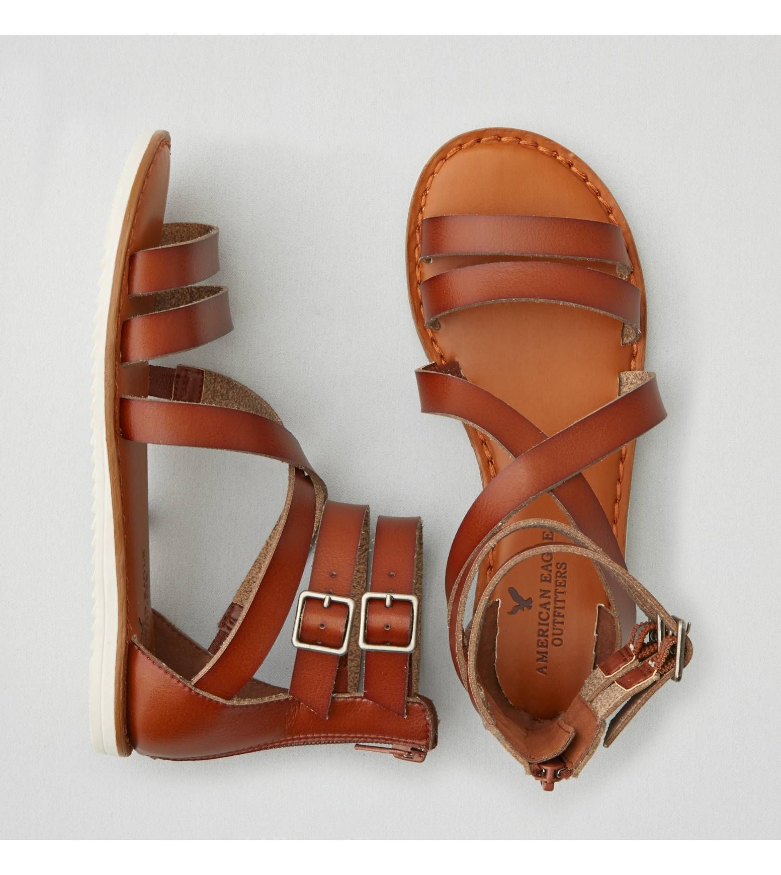 Medium Brown Aeo Buckled Gladiator Sandal Trend We Love