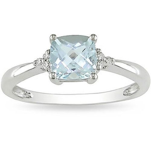 Miadora 10k White Gold Aquamarine And Diamond Ring Jewelry Diamond Engagement Rings Aquamarine Jewelry