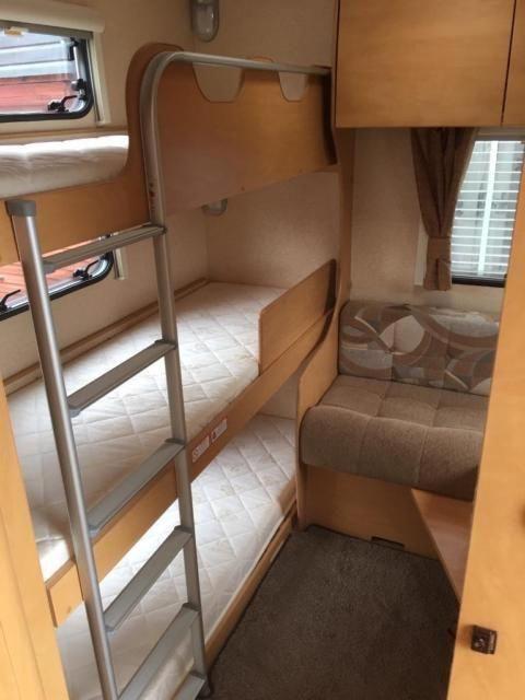 Best 2010 6 Berth Bailey Caravan With Fixed Triple Bunk Beds 400 x 300