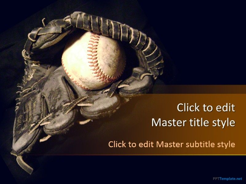 free baseball ppt template to share baseball quotes standings and