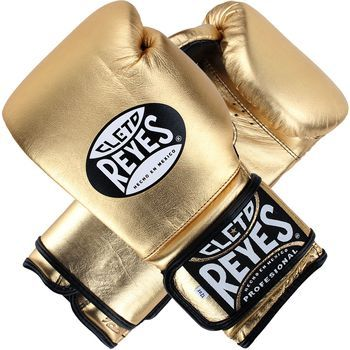 Cleto Reyes Hook and Loop Leather Training Boxing Gloves Solid Gold