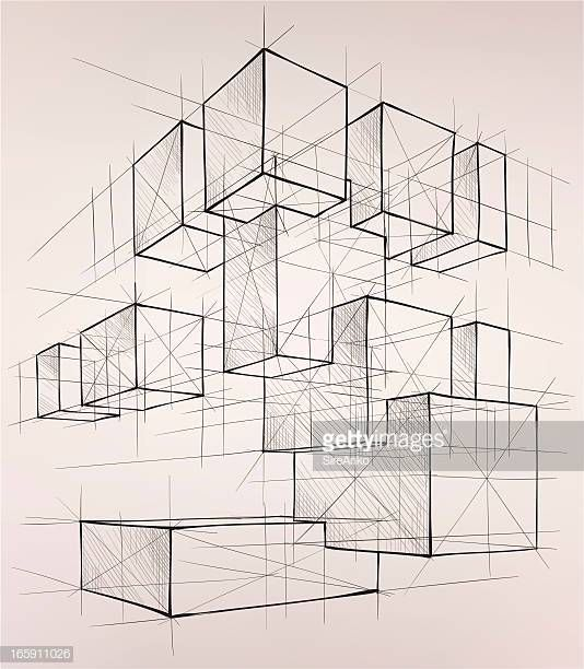 Vector illustration of geometric shapes. In the style of...