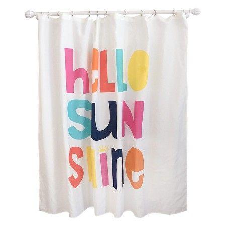 Hello Sunshine Shower Curtain White Pillowfort Yellow Shower