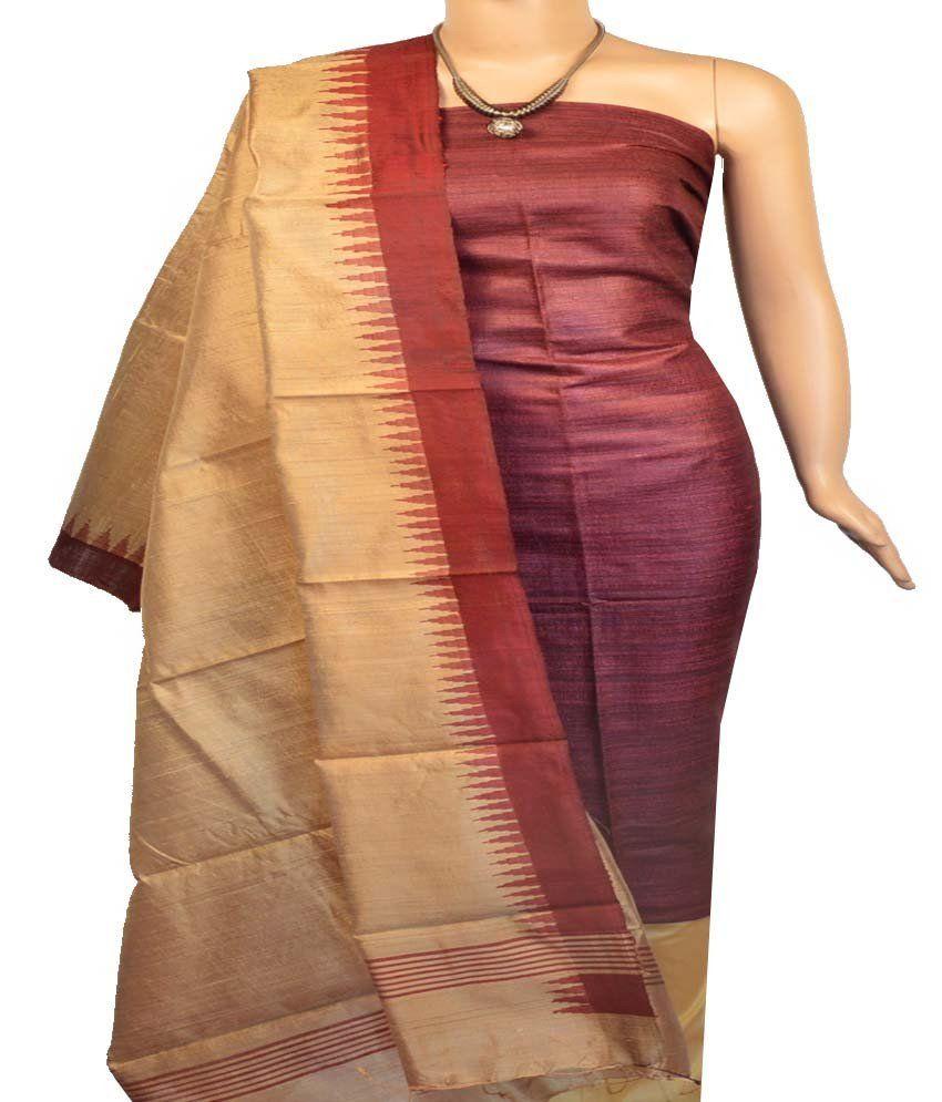 275429c6cc Churidar Material:- Top in Jute Silk , Duppata in Raw Silk and Bottom in  Cotton Silk (Un-stitched)