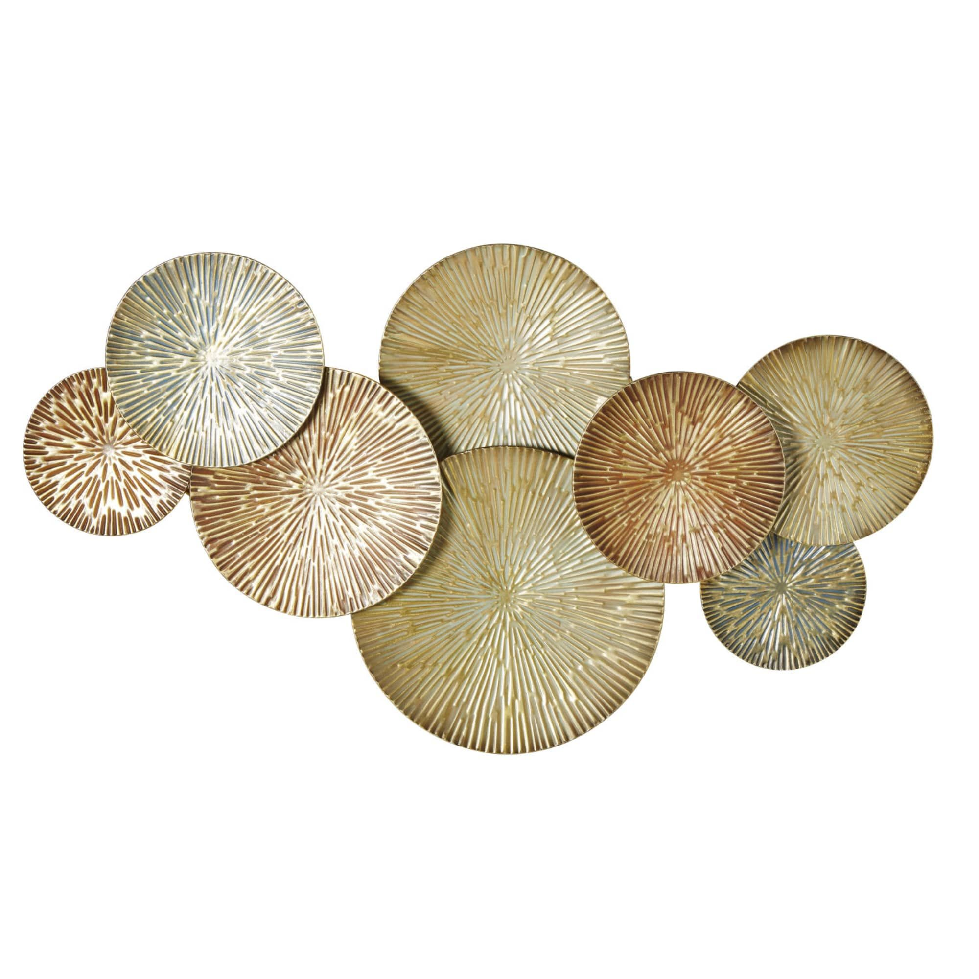 Gold and Brown Metal Wall Art 141x82 in 2020   Gold metal ...