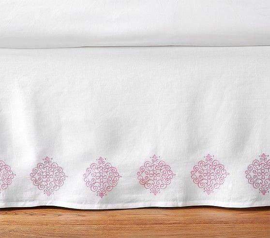 Cassandra Belgian Flax Linen Bed Skirt Ashley Furniture