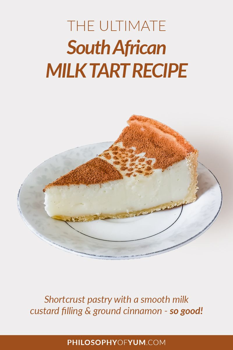 Milk Tart Recipe Tart Recipes African Dessert Milk Tart