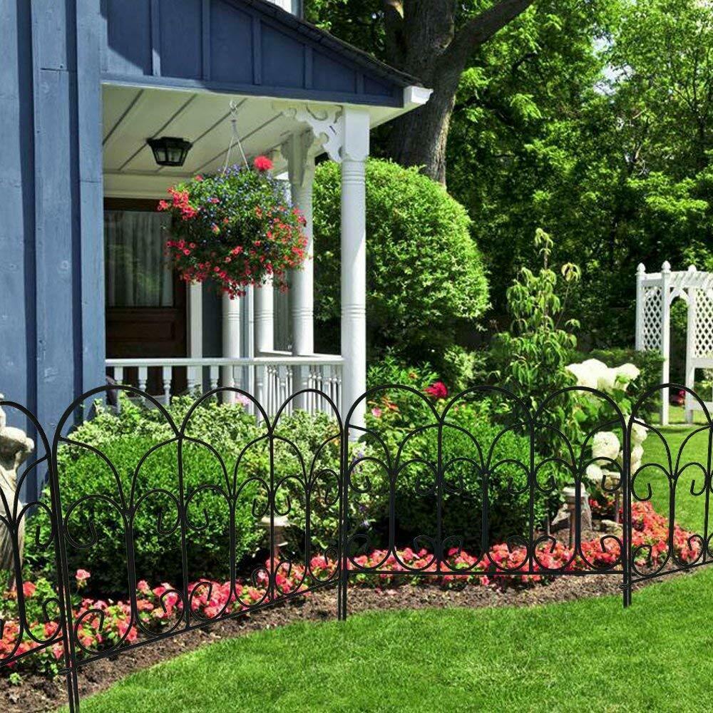 Wrought Iron Garden Fence 18in X 7 5ft Rustproof Wire Edging Decor Border Panels Ebay In 2020 Garden Fence Panels Decorative Garden Fencing Garden Fence