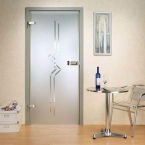 Adesivo Decorativo Jateado Para Portas De Vidro 200x060 Cm Com