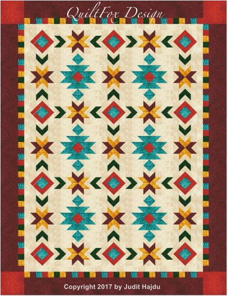 Southwest Inspired Full Queen Size Quilt Pattern 76 In X Etsy Southwest Quilts American Quilts Patterns Quilts