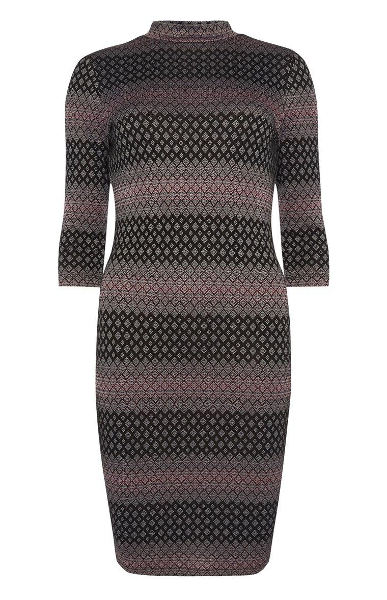 Primark - Black Red Geo Print Bodycon Dress