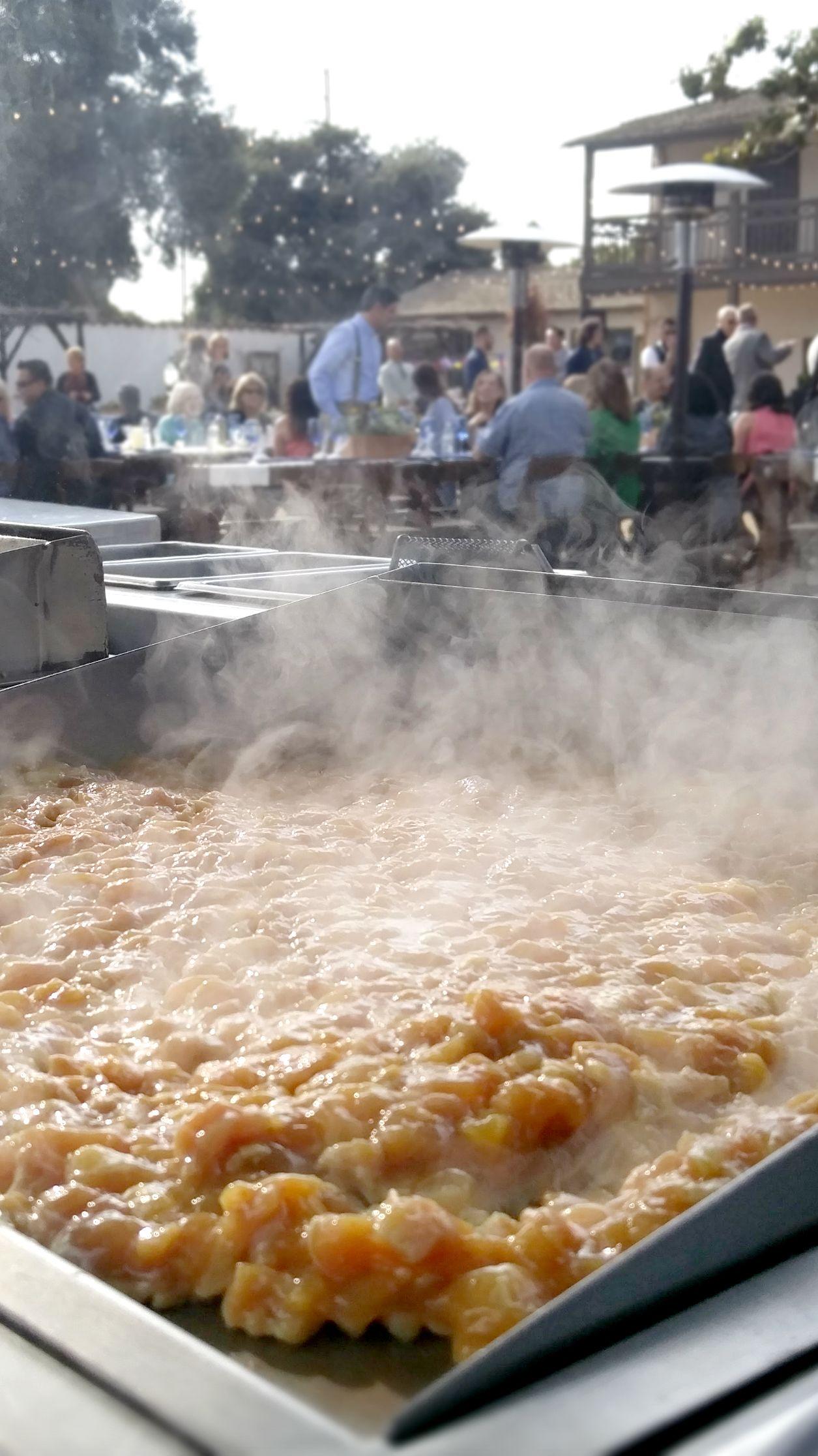 Gourmet taco wedding catering with pollo asado on the