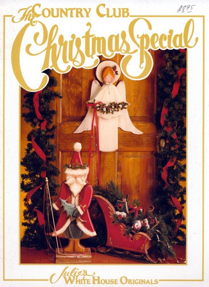 Country Club Christmas Special Julie White Book Tole Decorative