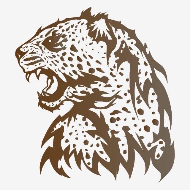محطما شعار الفهد في شكل ناقلات النمر أفريقيا فن Png والمتجهات للتحميل مجانا Zoo Logo Silhouette Vector Africa Art