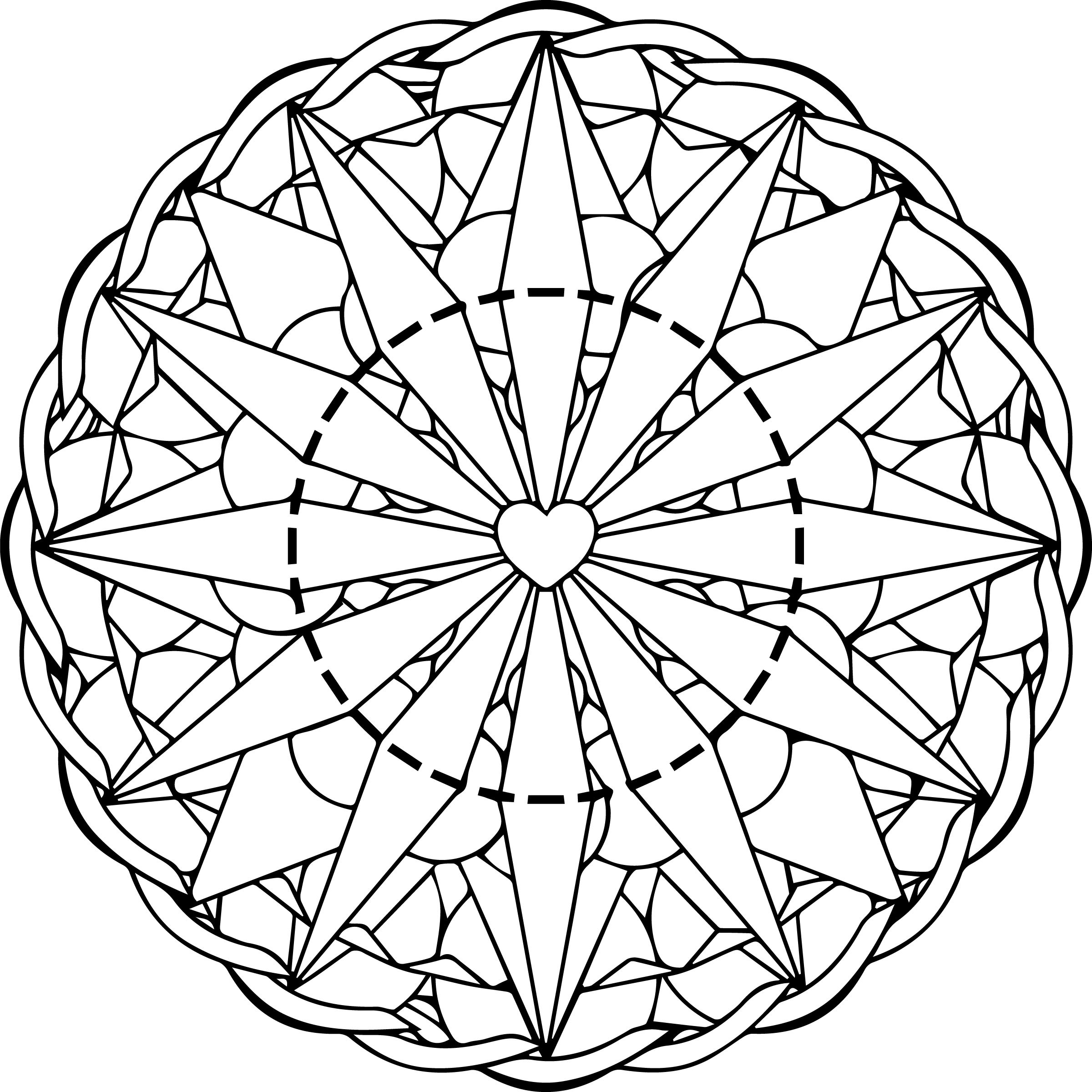 Adult coloring pages free printables mandala - Free Printable Mandala Coloring Page For Adults