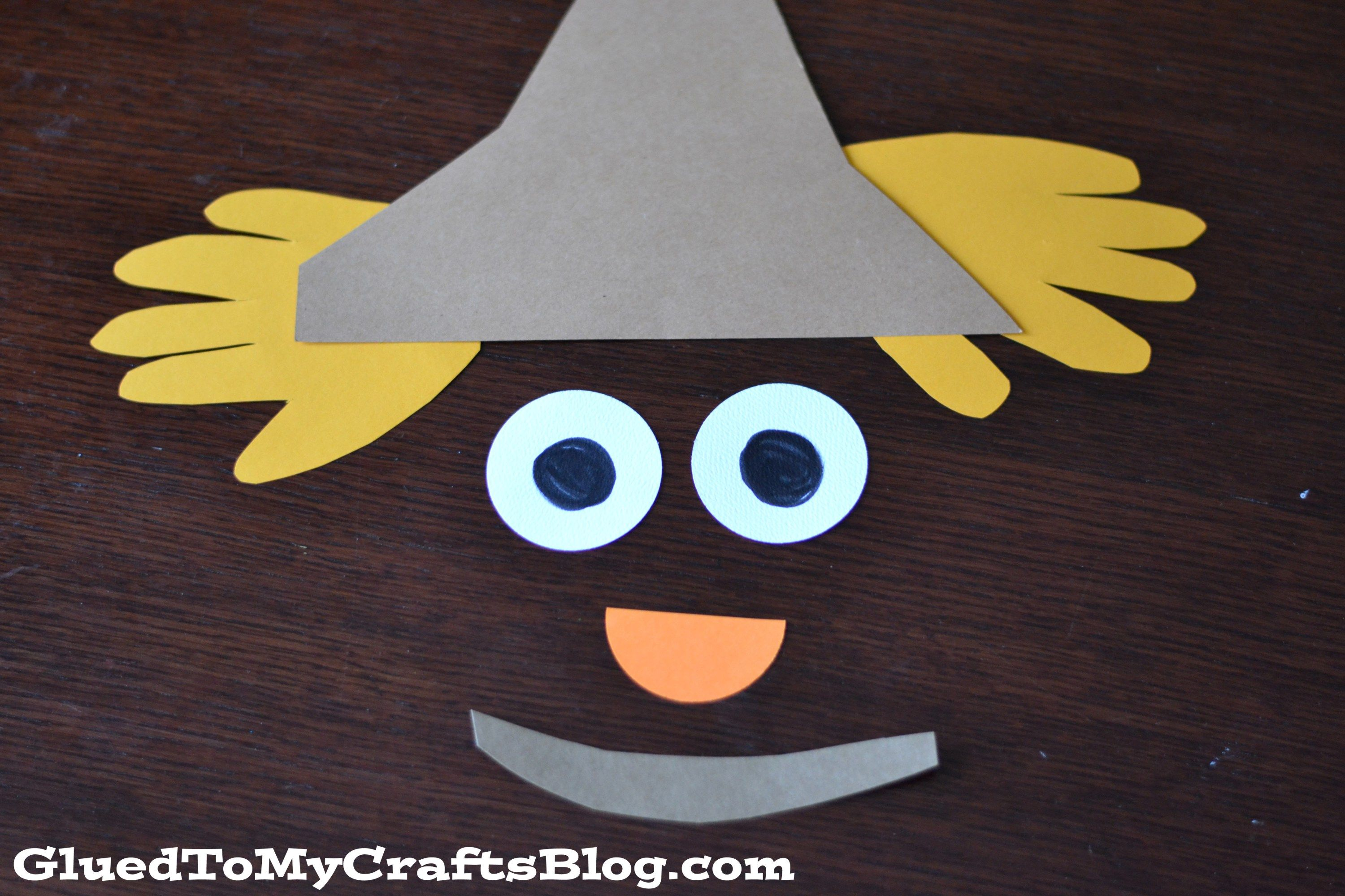 Paper Plate Scarecrow Fall Kid Craft