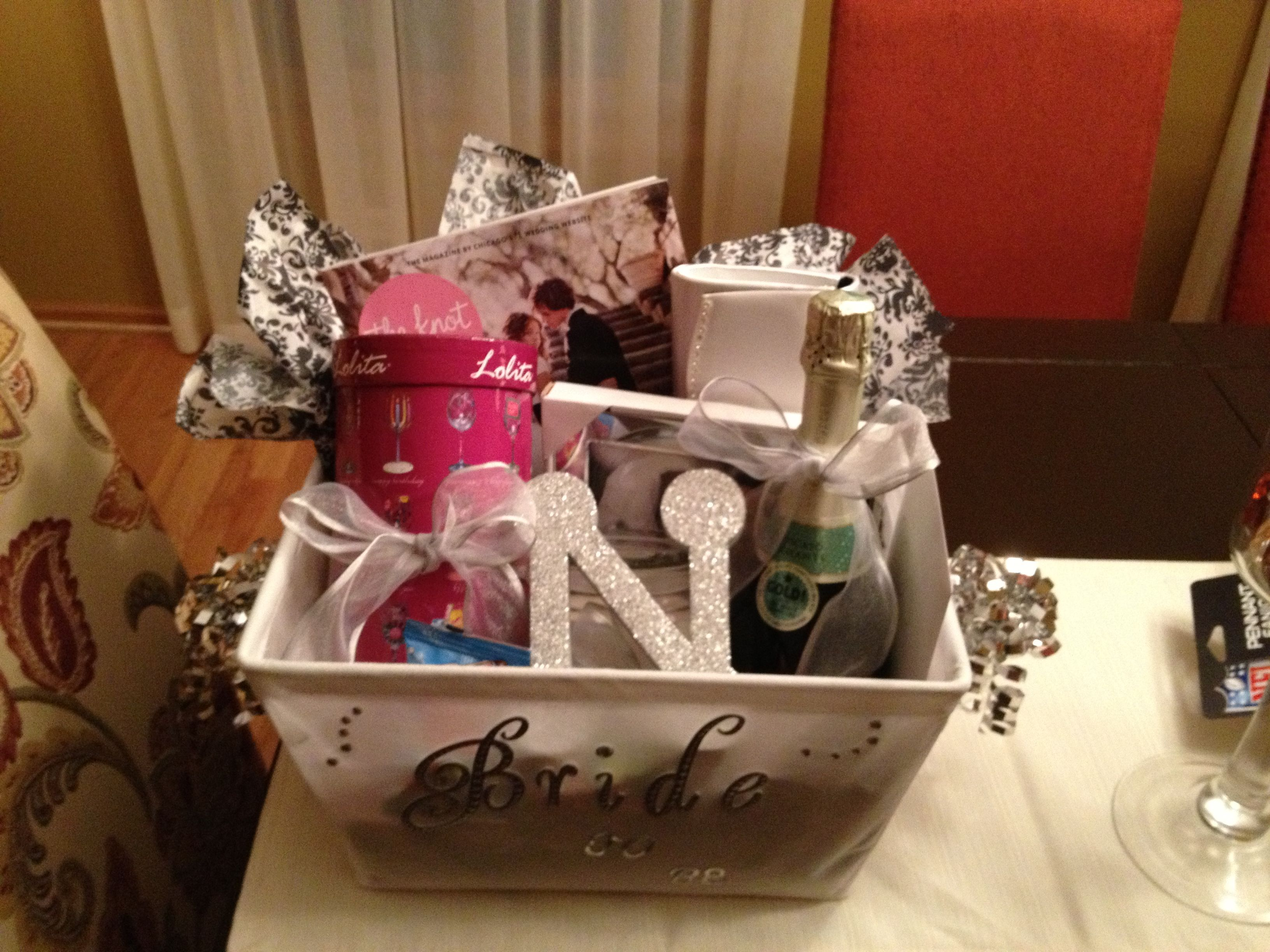 Wedding Magazine Subscription Gift: Bride To Be Basket! I Made This For My Best Friend Shawna