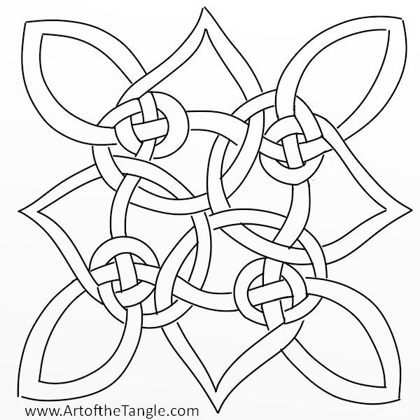 Celtic Knots For Tangling And Coloring