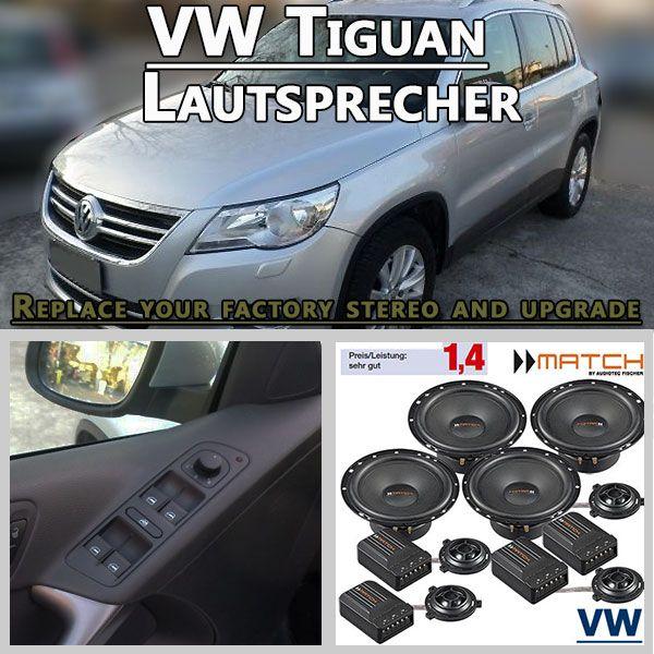 VW Tiguan Auto Lautsprecher Set mit 4 Hochtöner   Lautsprecher ...