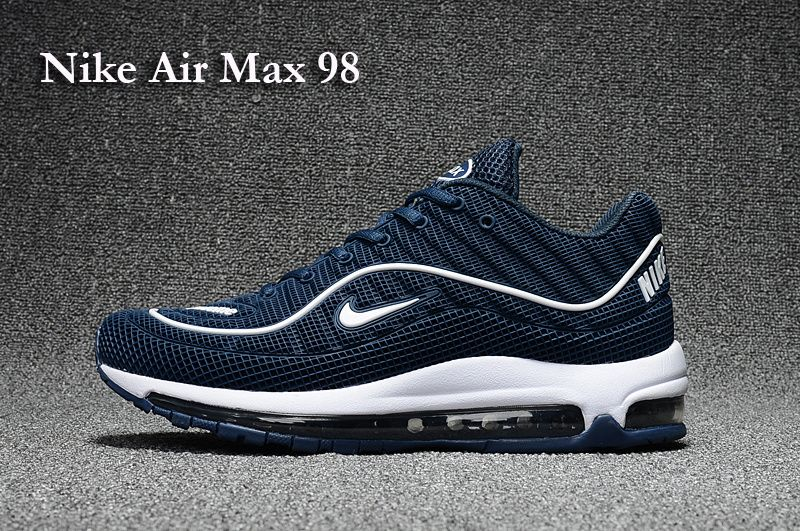 hot sale quality thoughts on Air Max 98 Men Dark Blue in 2019 | Nike air max running, Air ...