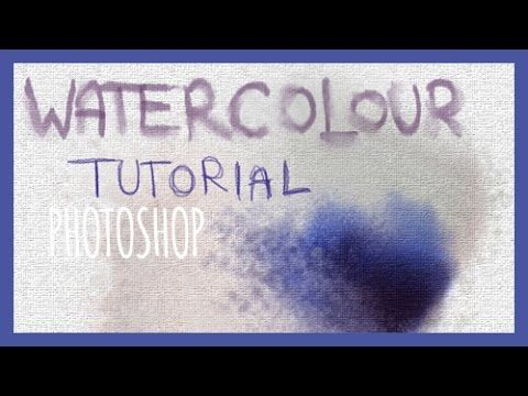 Digital Art Tutorial Watercolour Photoshop Incl Brush Set