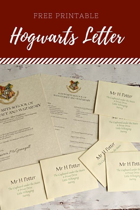 Free Printable Hogwarts Letter Housewife Eclectic Harry Potter Buchstaben Hogwarts Brief Harry Potter Thema
