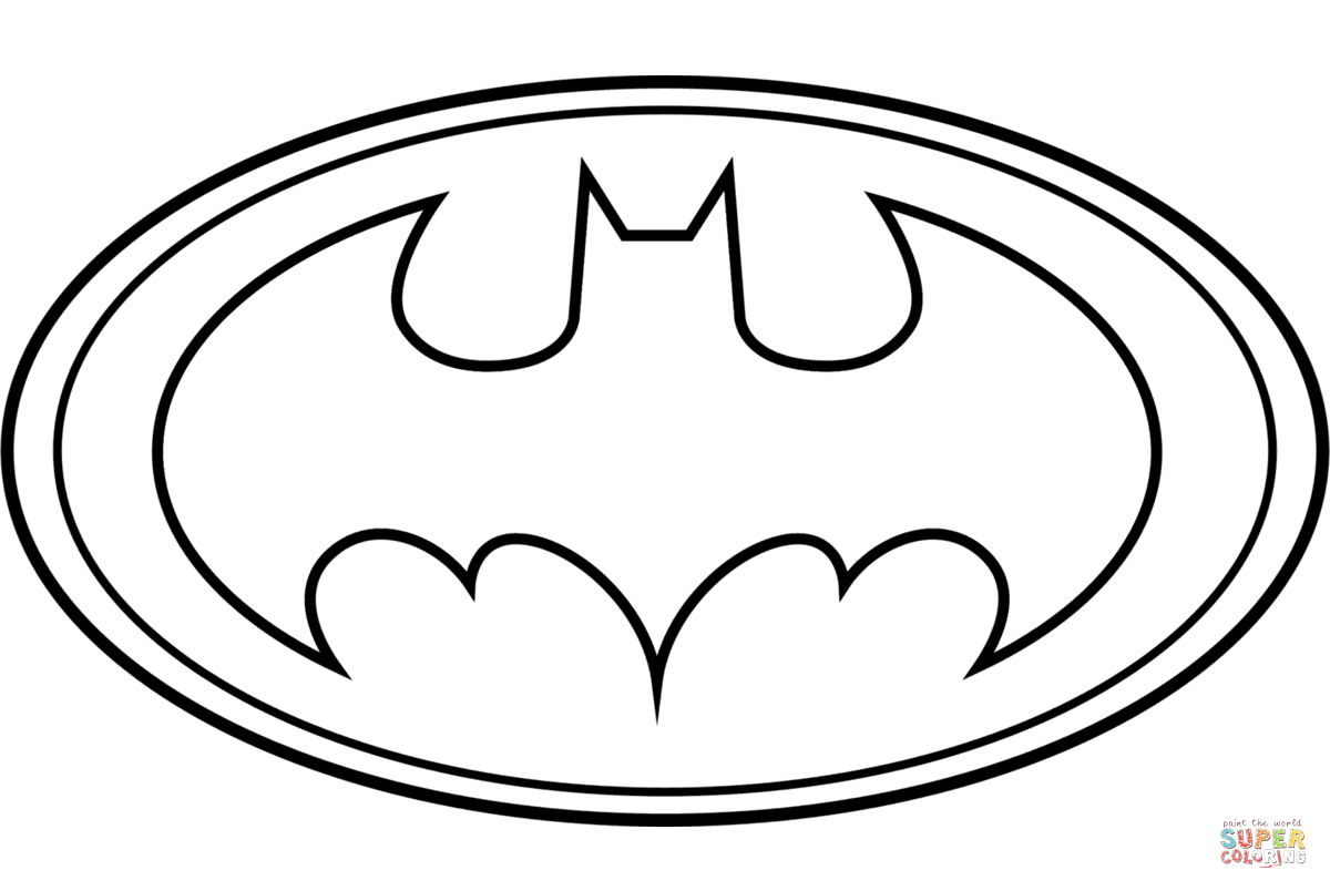 Batman Logo Coloring Page Free Printable Coloring Pages