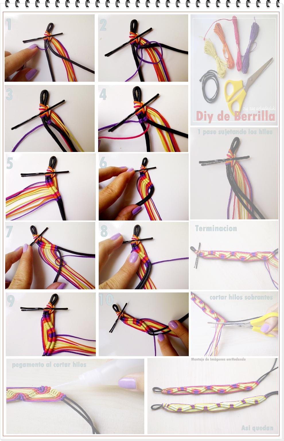 17+ Como tejer pulseras de hilo inspirations