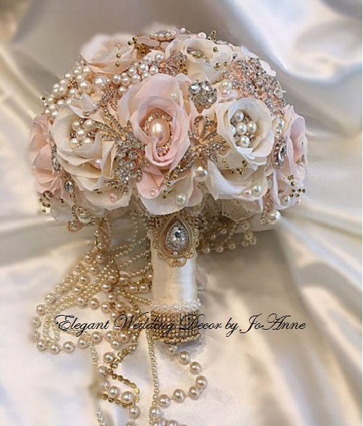 Bouquet Da Sposa Gioiello.Personalizzati Spilla Bouquet Bouquet Da Sposa Gioiello Rosa E