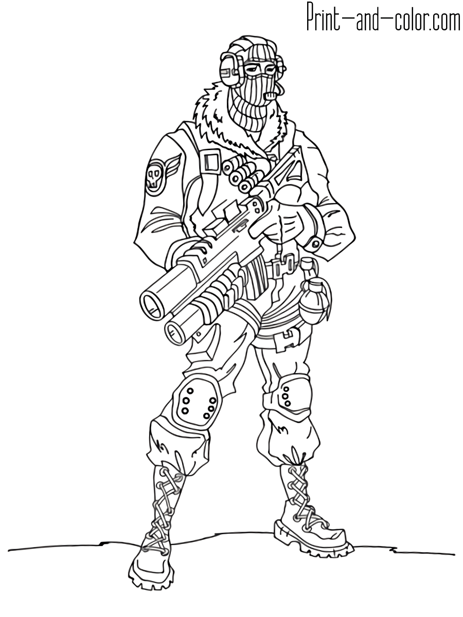 Fortnite Battle Royale Coloring Page Raptor Fortnight