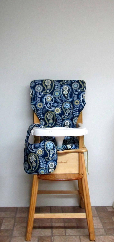 Cotton High Chair Cover, Eddie Bauer Pad, Kids Feeding Chair, Baby Furniture  Accessory