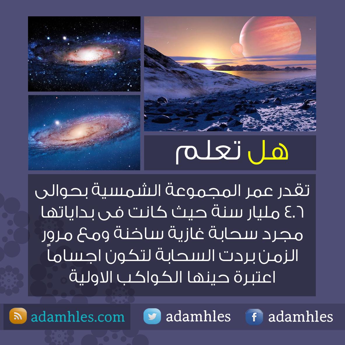 المصمم ادم حلس هل تعلم عن المجموعة الشمسية Website E 7 Resources