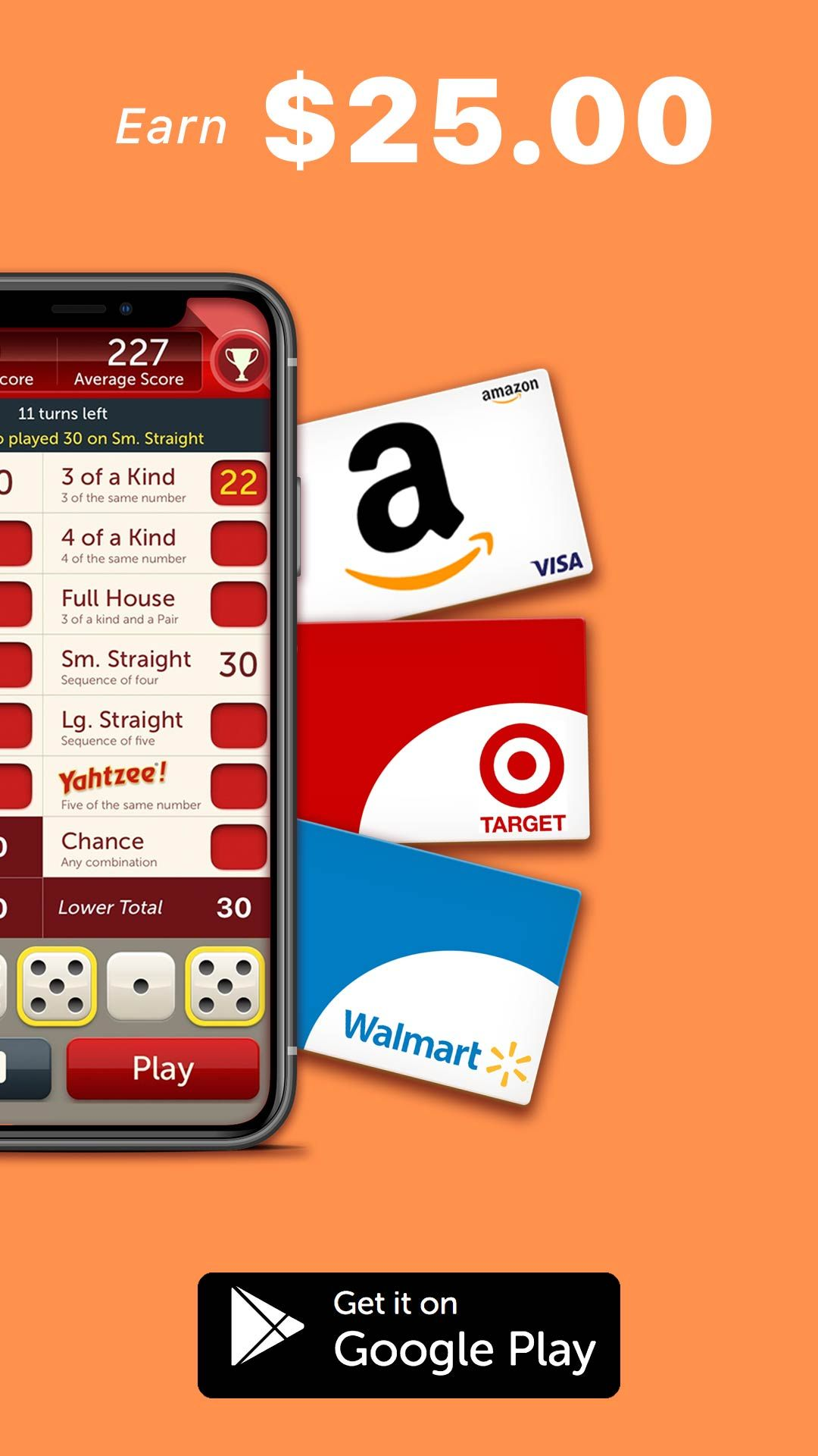 Earn 100 free gift cards while playing games on your
