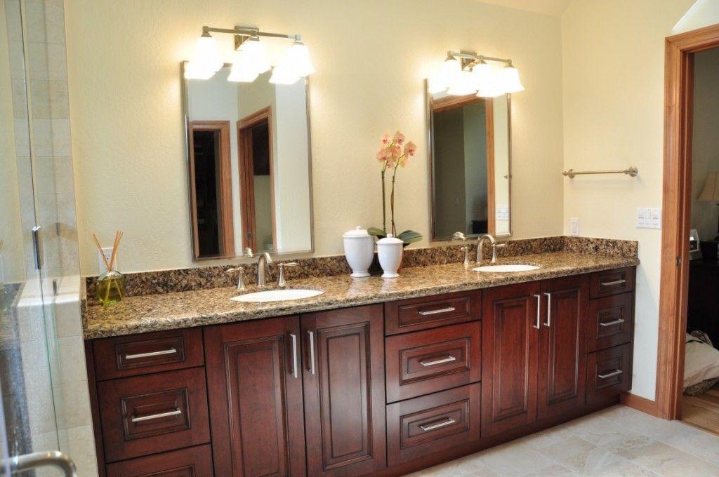 Cherry Bathroom Cabinets Wood