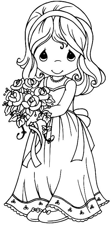 Colouring In Pages Wedding : I love precious moments anything!!! u003c3 colouring