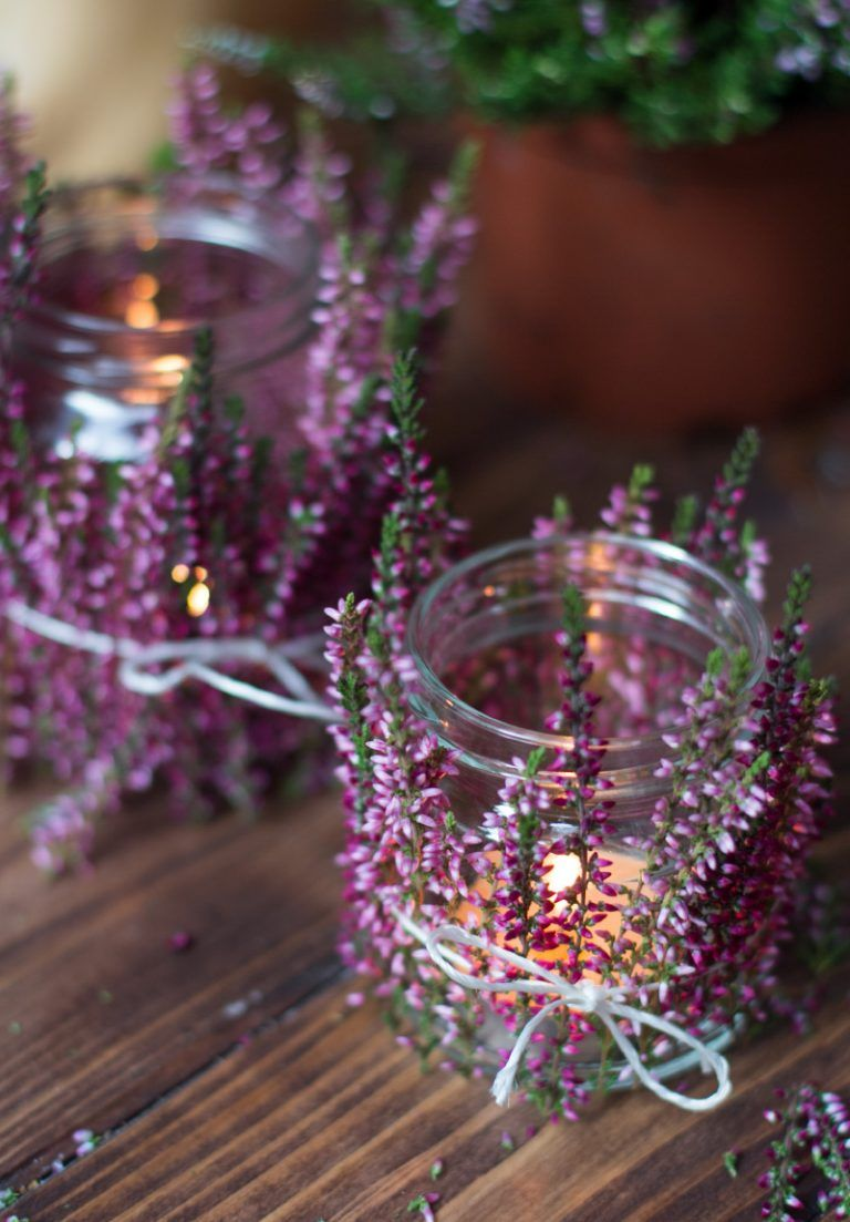 Photo of Natural tea lights with heather