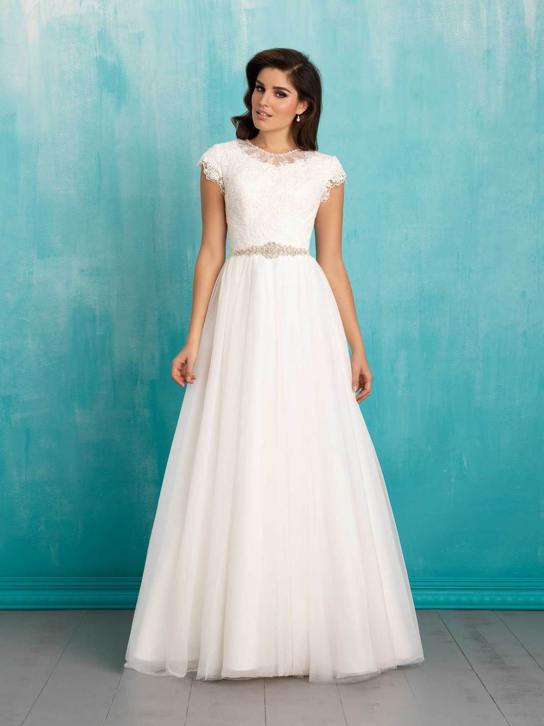 25 Modest Wedding Dresses with Short Sleeves – LDS Wedding | Modest ...