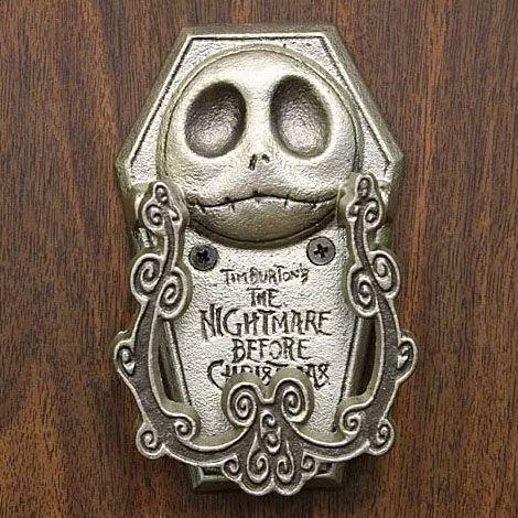 NIGHTMARE BEFORE CHRISTMAS JACK PEWTER DOOR KNOCKER