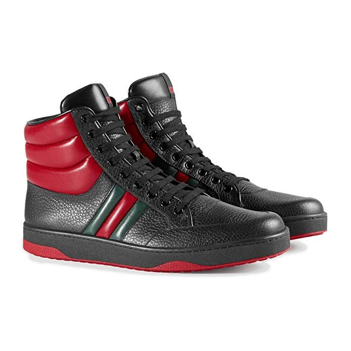 f92af430412 Gucci Men s Contrast Padded Textured Leather High Top Sneaker