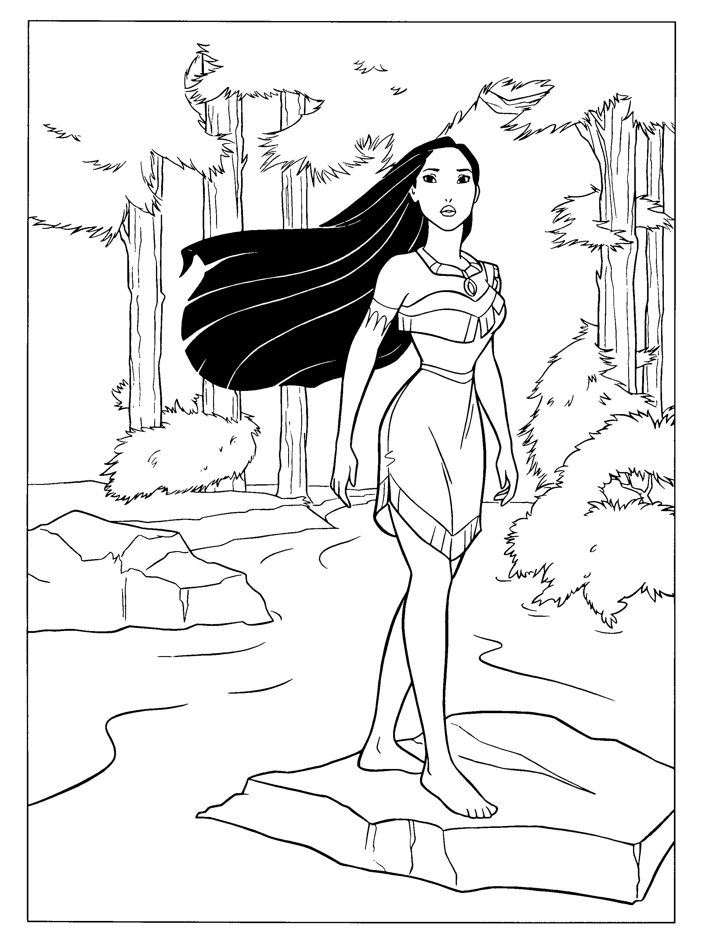 24 Marvelous Picture Of Pocahontas Coloring Pages