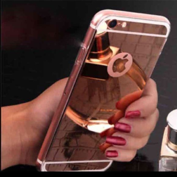 mirror iphone6 plus iphone6s plus case rose gold brand new, tpu soft