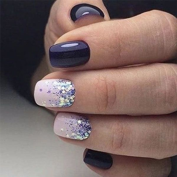 50 Nail Art Ideas That Make Short Nails Look Nice Nail Designs Winter Nails Winter Nail Designs