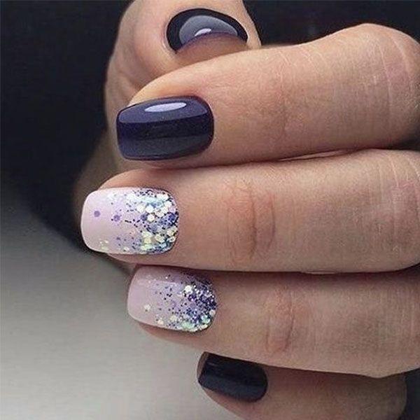 50 Nail Art Ideas That Make Short Nails Look Nice Nail Designs Winter Nails Nail Colors Winter