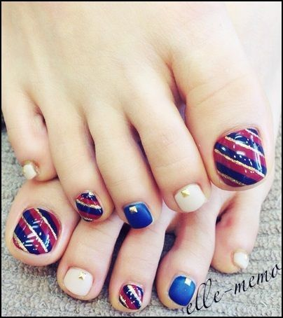 cute toe nail design...great way to show off your toes with sandals - Cute Toe Nail Design...great Way To Show Off Your Toes With Sandals